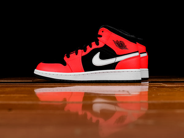 Kid's Air Jordan 1 Mid GS 'Infared' [554725-061]