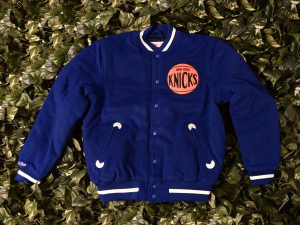Mitchell & Ness Authentic Knicks Varsity Jacket [6362A3182-ANYKIH]