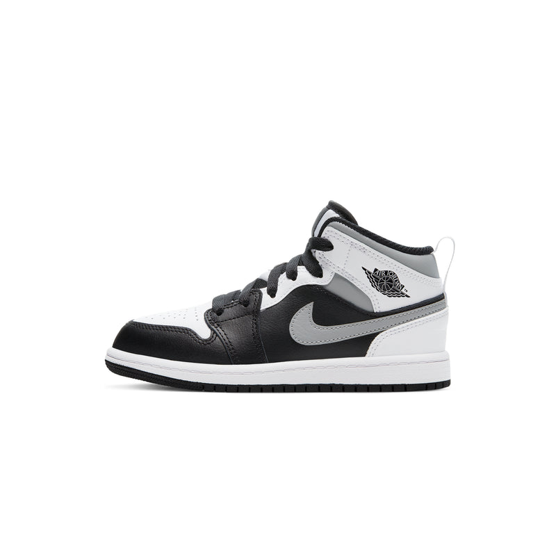 Air Jordan 1 Little Kids Mid 'White Shadow' PS Shoes