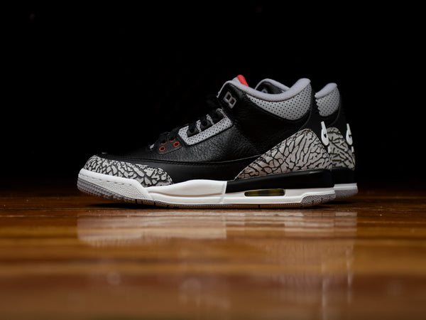 Kid's Air Jordan 3 Retro GS 'Black Cement' [854261-001]