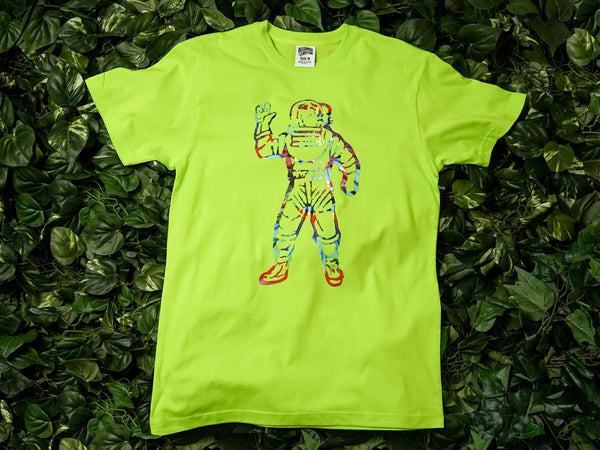 Men's Billionaire Boy's Club 'Tie Dye Astro' SS Tee [891-4200-LIME]