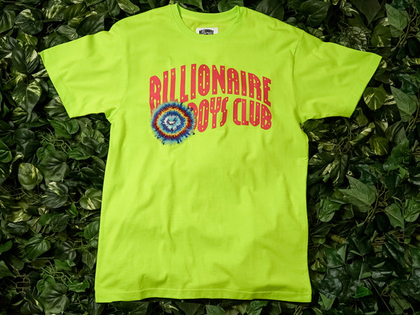 Men's Billionaire Boy's Club 'Tie Dye Arch Knit' SS Tee [891-4300-LIME]