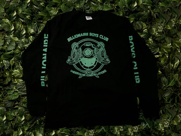 Men's Billionaire Boys Club Mission L/S Tee [891-7204-BLK]