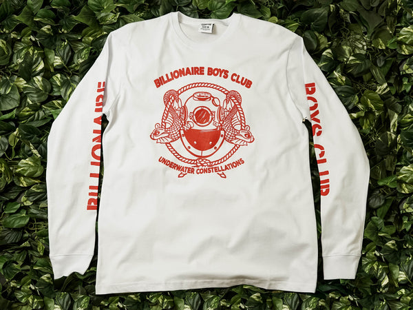 Men's Billionaire Boys Club Mission L/S Tee [891-7204-WHT]