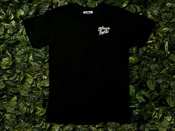 Men's Billionaire Boys Club Script S/S Tee [891-7316-BLK]