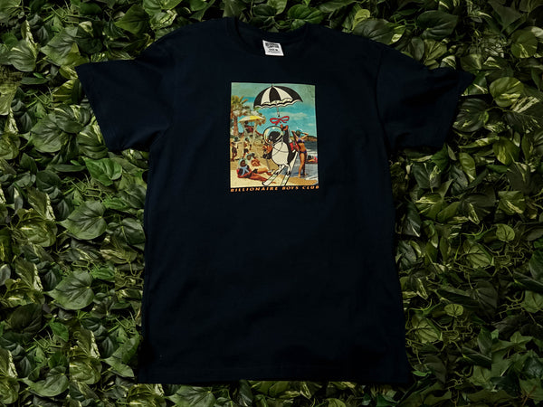 Men's Billionaire Boy's Club Retro Beach S/S Tee [891-9208-BLU]