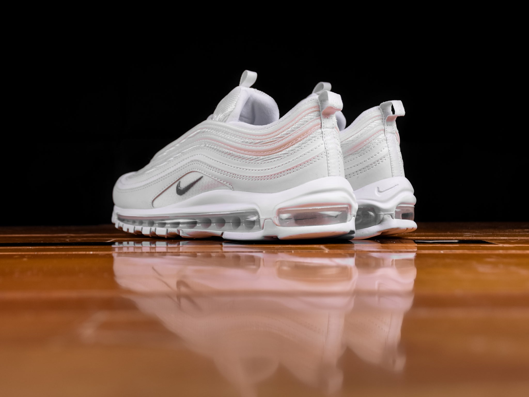 new styles on feet shots of official store Men's Nike Air Max 97 'Triple White' [921826-101]