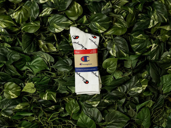 Champion All Over Logo Crew Socks [A2223-045]