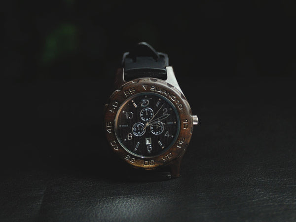Silvano Barkwood Collection Mahogany Watch [BMR02]