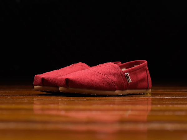 Women's TOMS Red Canvas Classic [001001B07-RED]