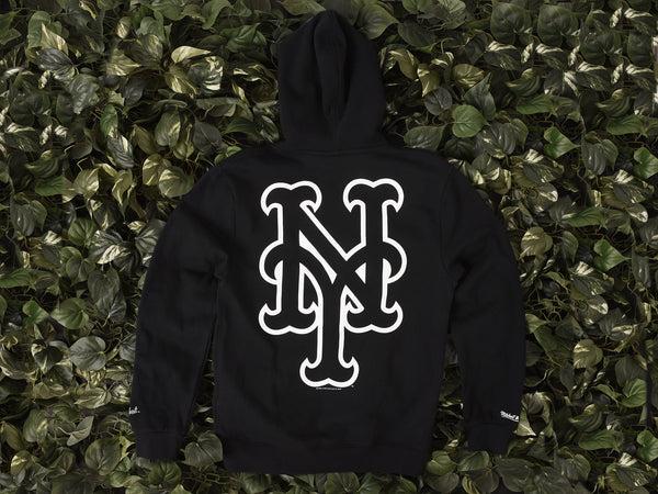 Renarts - Mitchell & Ness New York Mets Hoodie 'Big Sexy Logo' [270FA-005-BLK]
