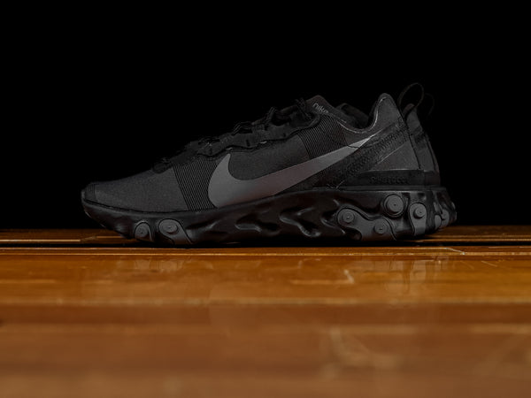 Men's Nike React Element 55 'Triple Black' [BQ6166-008]
