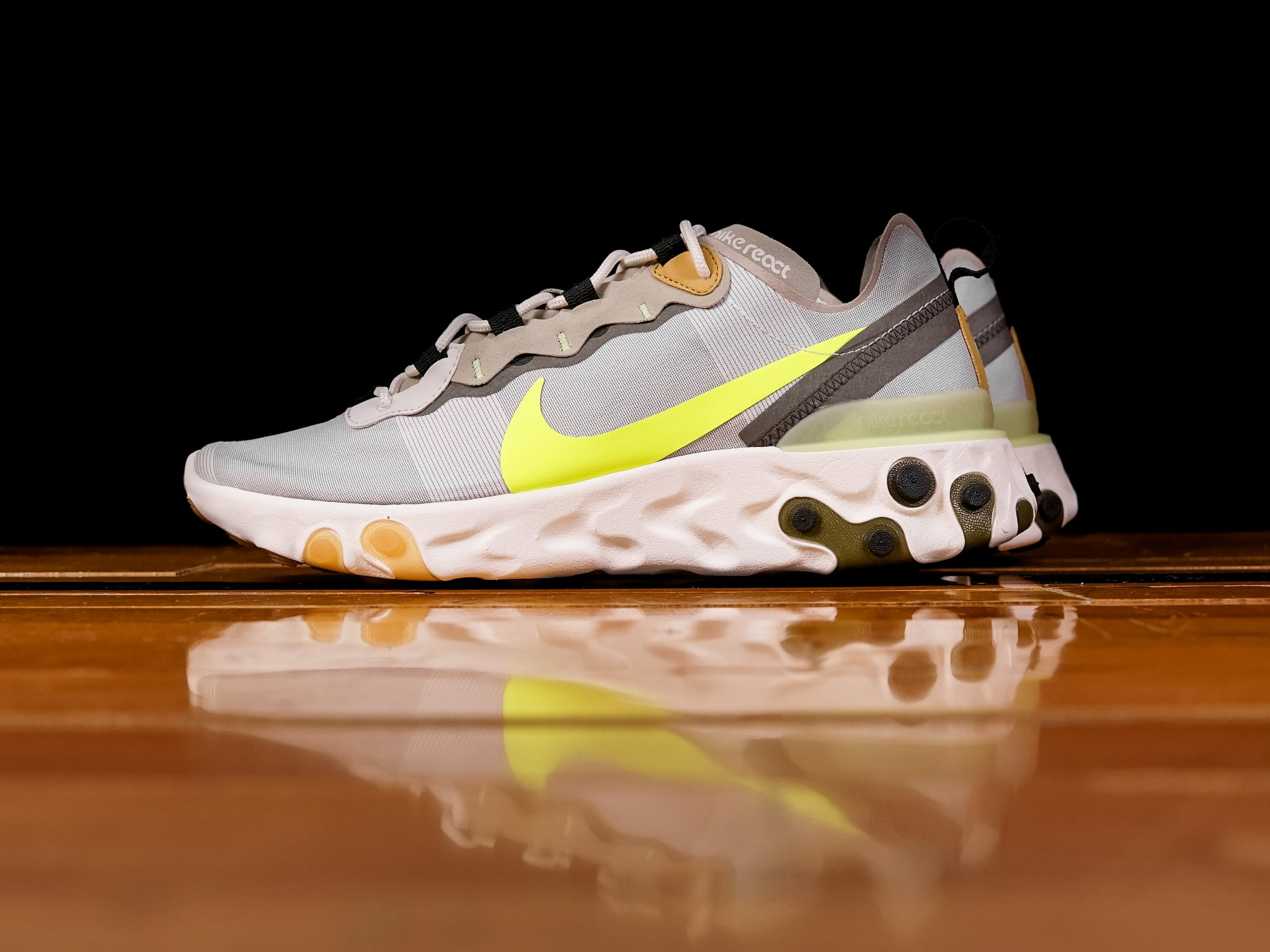 best service 07705 f94ae Men s Nike React Element 55  Volt    BQ6166-009   Renarts