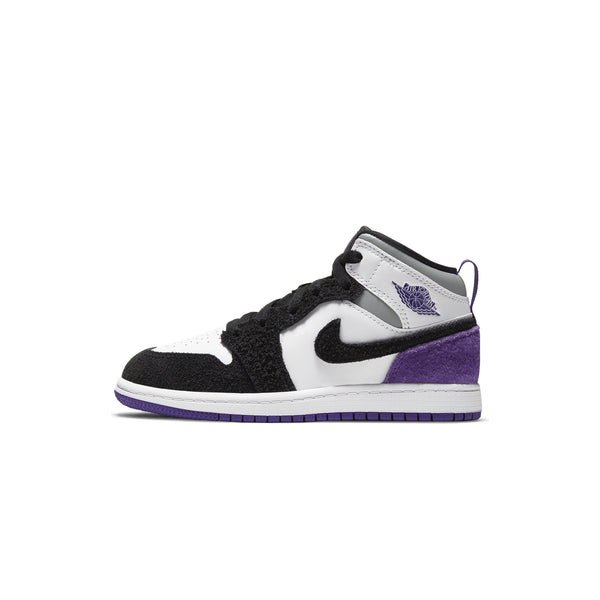 Air Jordan 1 Little Kids Mid SE 'Court Purple' PS Shoes