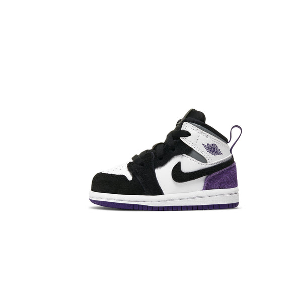 Air Jordan 1 Infants Mid SE 'Court Purple' TD Shoes
