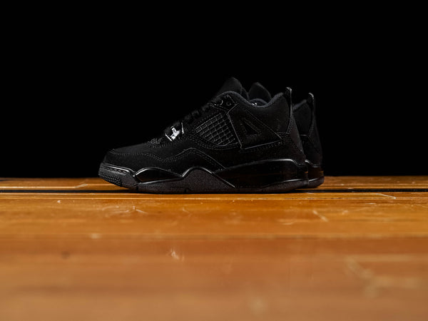 Kid's Air Jordan 4 Retro PS 'Black Cat' [BQ7669-010]