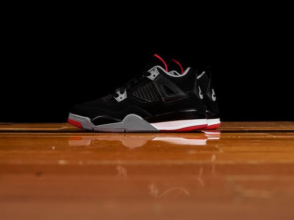 Kid's Air Jordan 4 Retro PS 'Bred' [BQ7669-060]