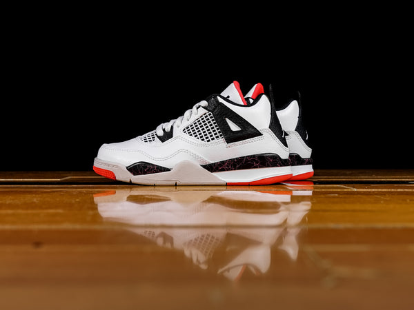 Kid's Air Jordan 4 Retro PS 'Bright Crimson' [BQ7669-116]
