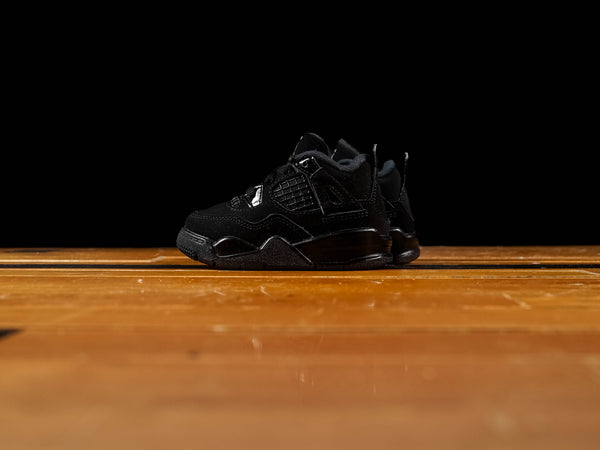 Kid's Air Jordan 4 Retro TD 'Black Cat' [BQ7670-010]