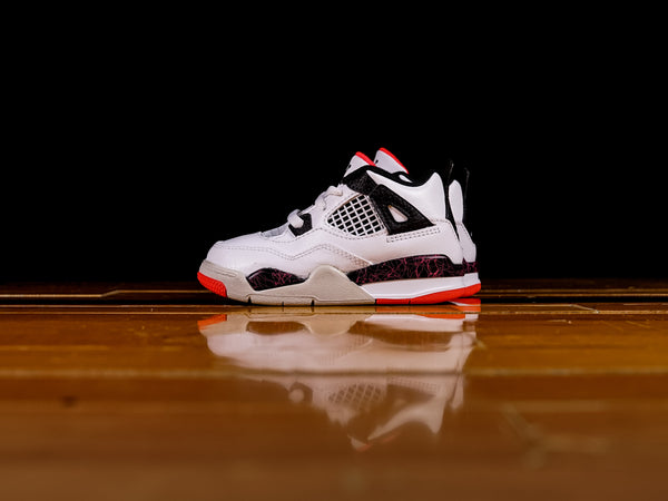 Kid's Jordan 4 Retro TD 'Bright Crimson' [BQ7670-116]
