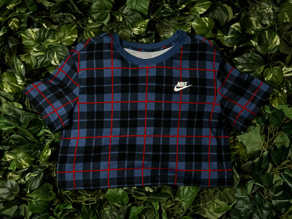 Women's Nike Sportswear Futura Plaid Crop Top [CI1014-455]