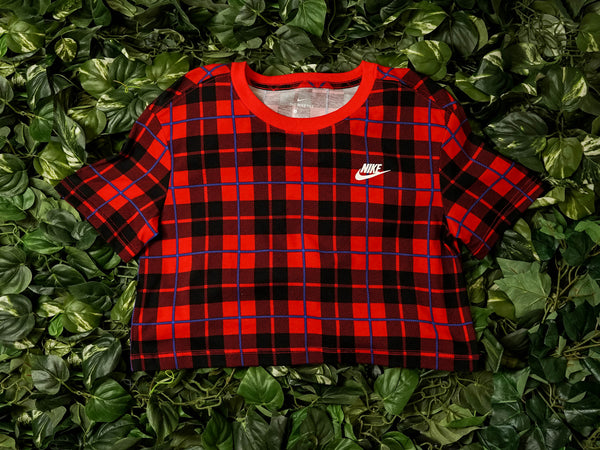 Women's Nike Sportswear Futura Plaid Crop Top [CI1014-657]