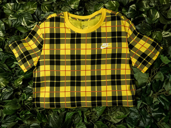 Women's Nike Sportswear Futura Plaid Crop Top [CI1014-703]