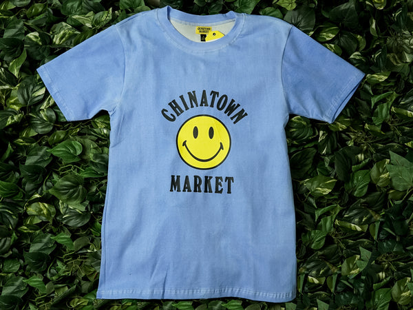 Men's Chinatown Market 'Hyper Color Smiley' Tee [CTM-SLCC-BLU]