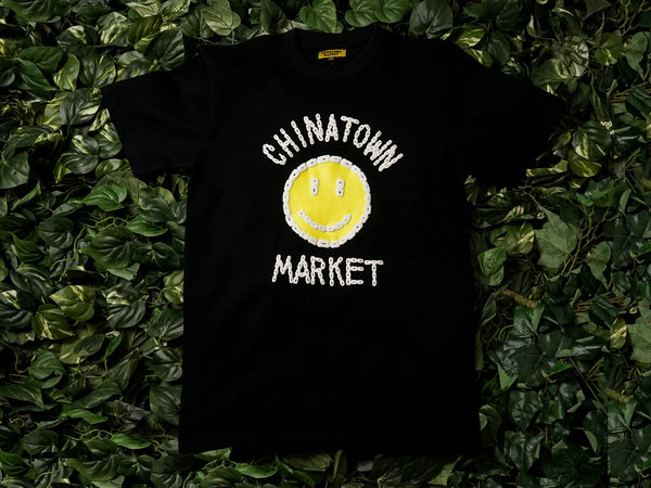 Men's Chinatown Market 'Smiley Logo' Chain Tee [CTM-SLCT-BLK]
