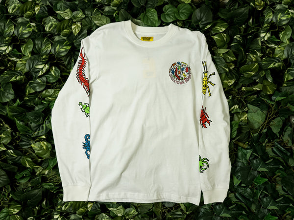 Men's Chinatown Market Long Sleeve Shirt [CTMF18-BLS-WHT]