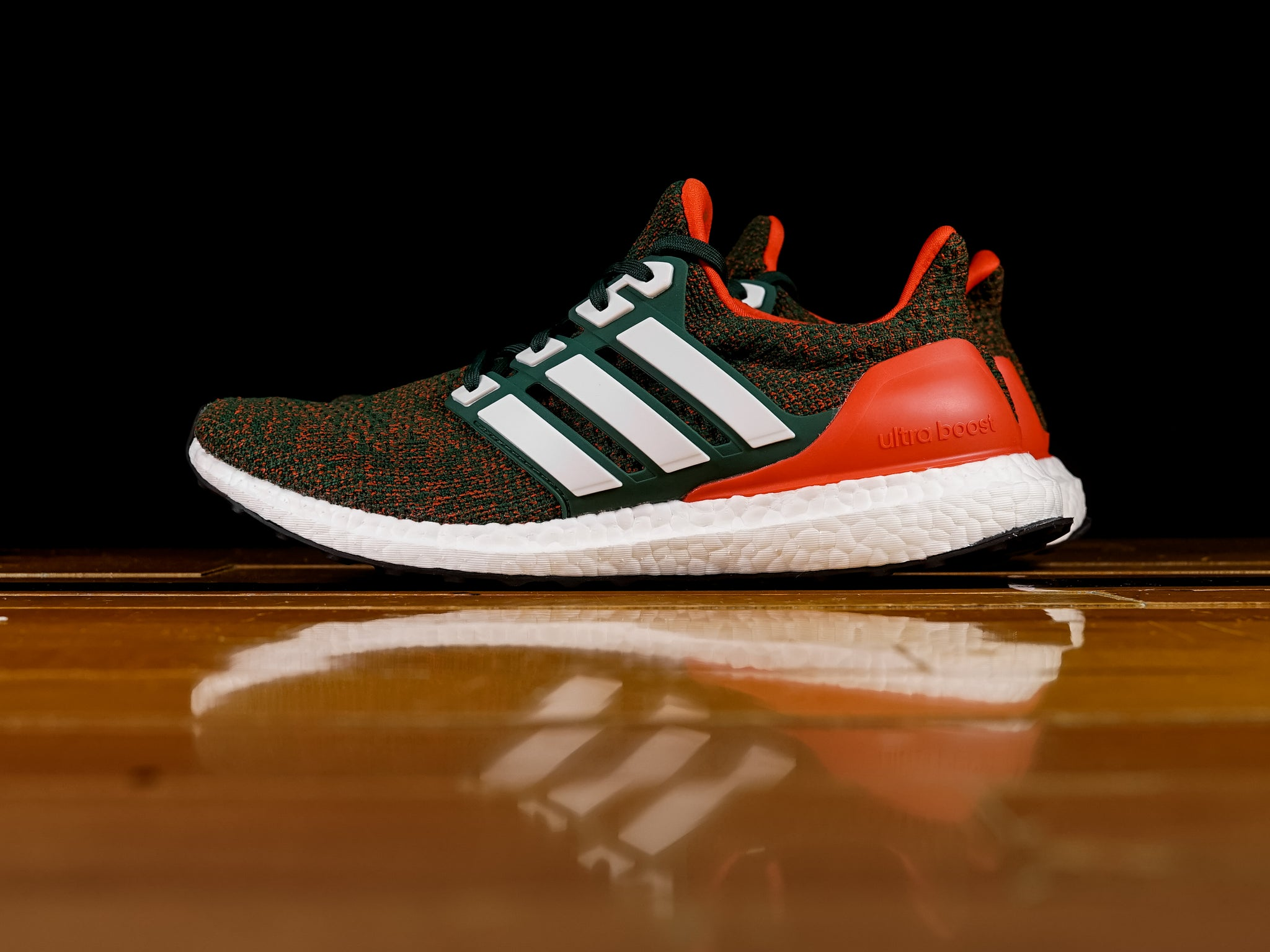 034cb0205 Men s Adidas Ultra Boost 4.0  Miami Hurricanes