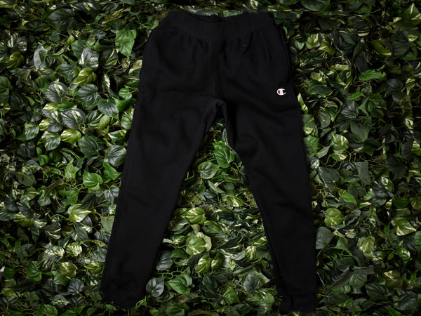 Men's Champion Reverse Weave Trim Joggers [GF01-BKC]