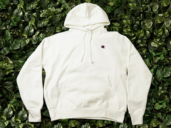 Men's Champion Reverse Weave Fleece Pullover Hoodie [GF68-WHC]
