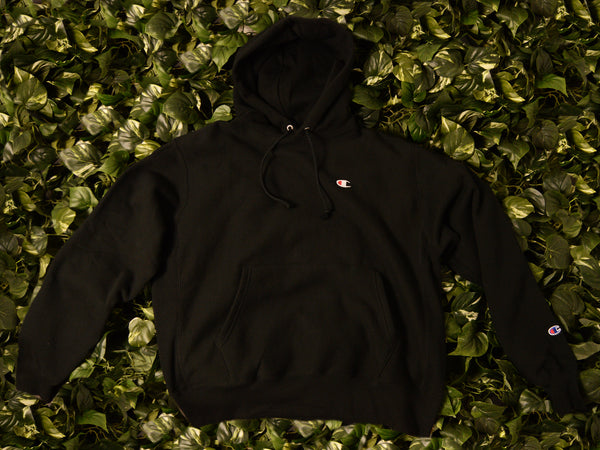 Men's Champion Reverse Weave Fleece Pullover Hoodie [GF68-BKC]
