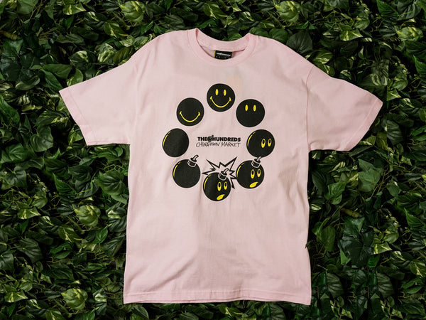 Men's Chinatown Market x The Hundreds SS Tee [L18W201035-PNK]