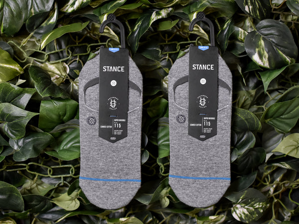 Stance Grey 'Super Invisible' Socks [M1002INV-GRY]