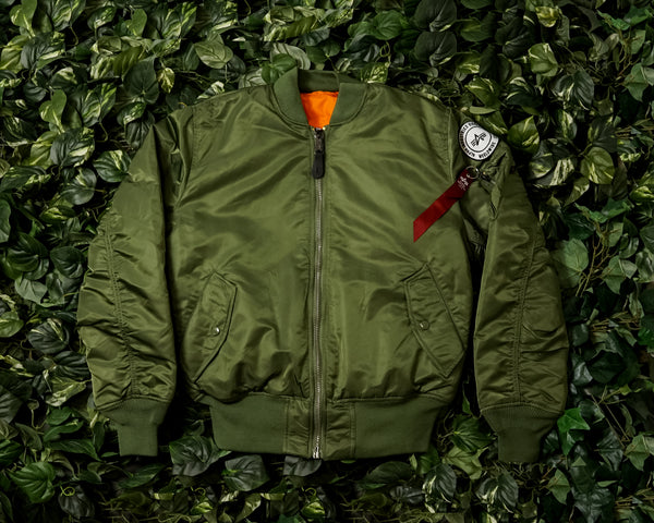 Men's Alpha Industries MA-1 Coalition Forces Flight Jacket [MJM48503C1-SAGE]