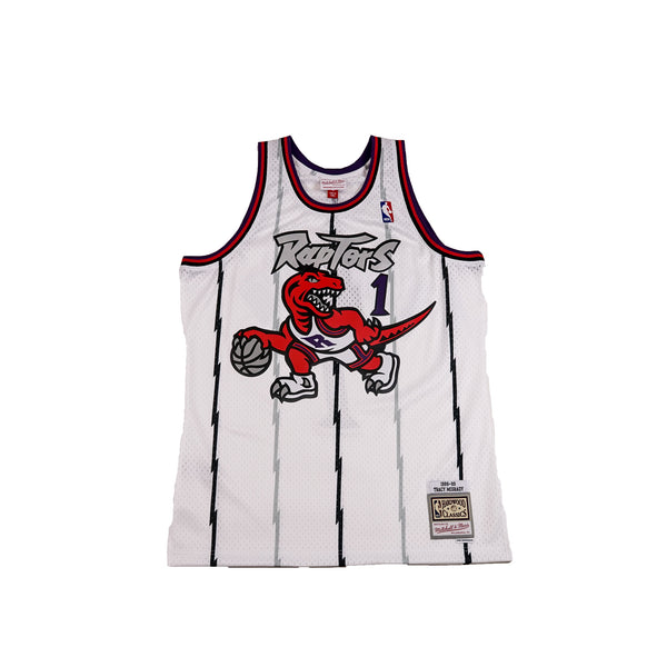 "Mitchell & Ness Mens NBA Toronto Raptors '98-'99 ""Tracy Mcgrady"" Swingman Jersey"