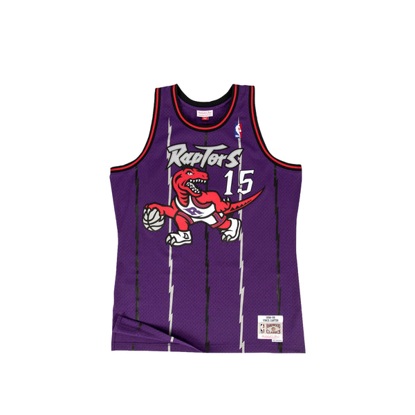 "Mitchell & Ness Mens NBA Toronto Raptors '98 ""Vince Carter"" Road Swingman Jersey"