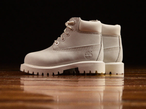 Toddler Timberland 6 Inch Premium Boot 'Ghost White' [TB0A1MLT]