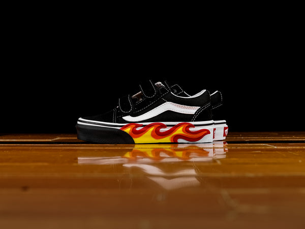 Pre-School Vans Old Skool V 'Flames' [VN0A38HDUJG]