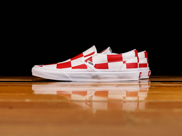 Men's Vans Leather Check Classic Slip-On [VN0A4BV3TBV]