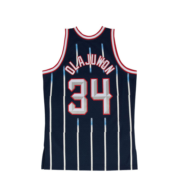 Mitchell & Ness Mens NBA Houston Rockets '96 'Hakeem Olajuwon' Swingman Jersey