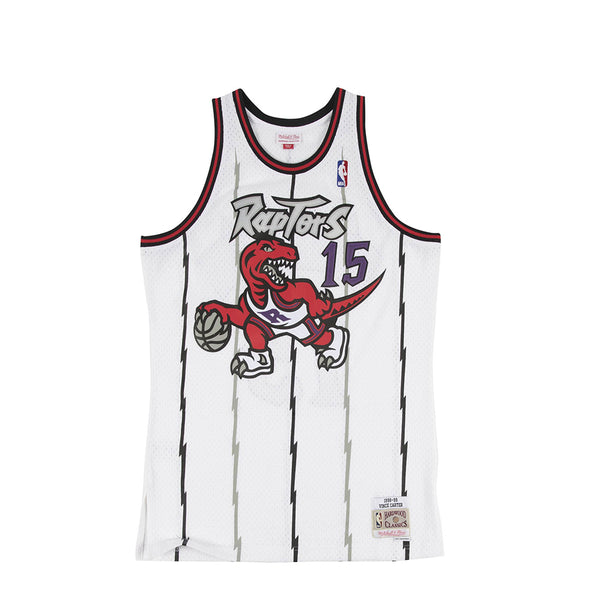"Mitchell & Ness Mens NBA Toronto Raptors '98 ""Vince Carter"" Home Swingman Jersey"