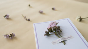Dry Flower Cards - You're Awesome!