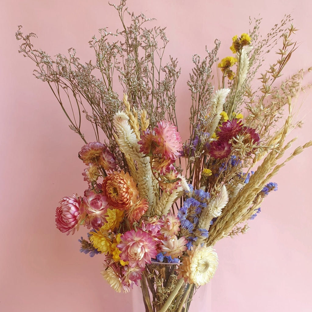 Dried Flower Bouquet in Vase