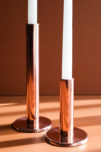Copper Circular Candle Stands