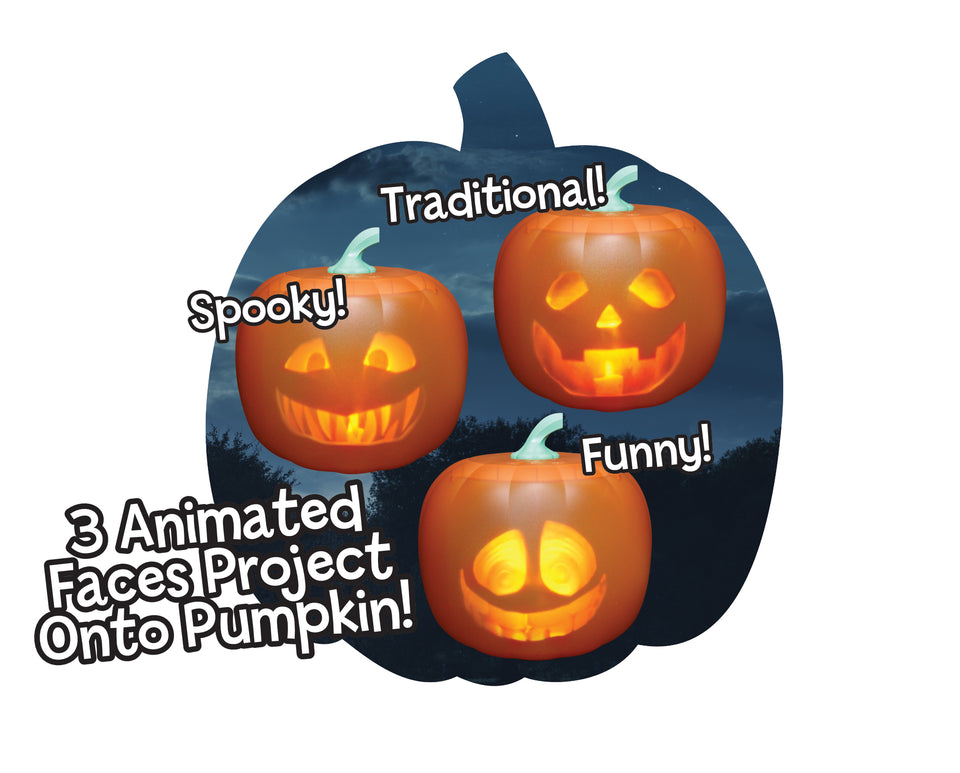 The Original Jabberin' Jack The Talking Animated Pumpkin with Built-In Projector & Speaker