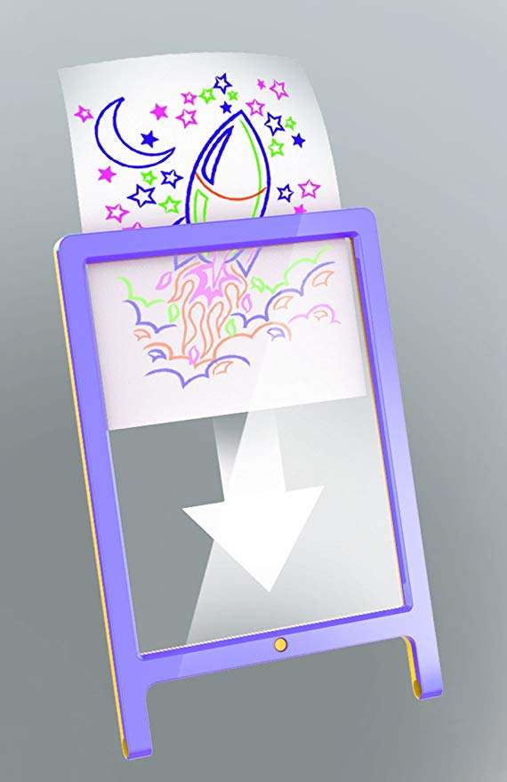 Glow Pad XL w/Easel Purple/Yellow