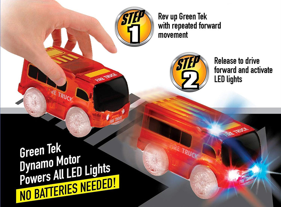 GreenTek Light Up Friction Vehicles - Emergency